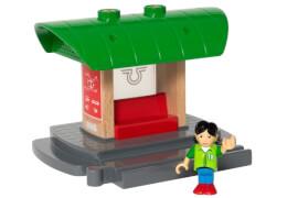 BRIO World 33840 Bahnhof mit Aufnahmefunktion Eisenbahnzubehör für die BRIO Holzeisenbahn Kleinkinderspielzeug