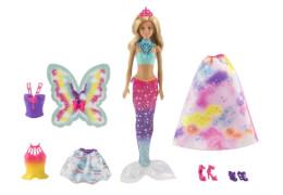 Mattel Barbie - Dreamtopia Regenbogen Königreich 3-in-1 Fantasie Puppe