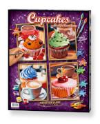 Simba Schipper Malen nach Zahlen - Cupcakes (Quattro) á 18 x 24 cm